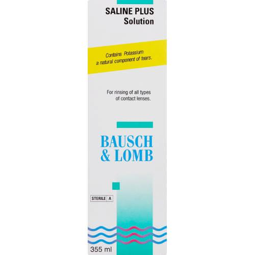 Solutions - Saline Plus Contact Lens Solution 355ml