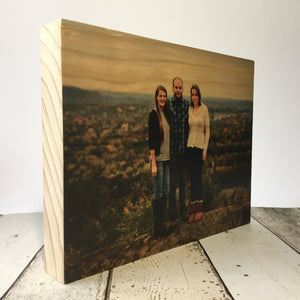 "8x10"" Custom Wood Photo Block"