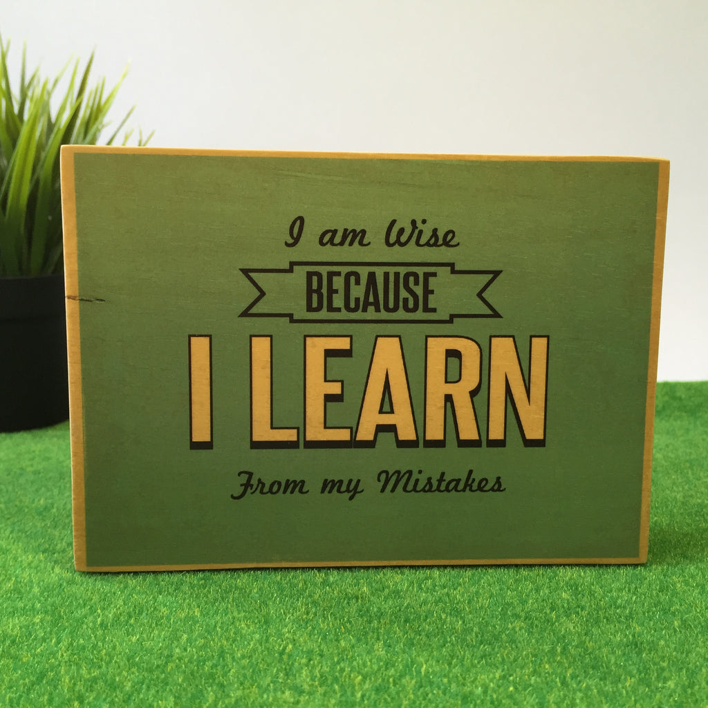I Am Wise Because I Learn From My Mistakes