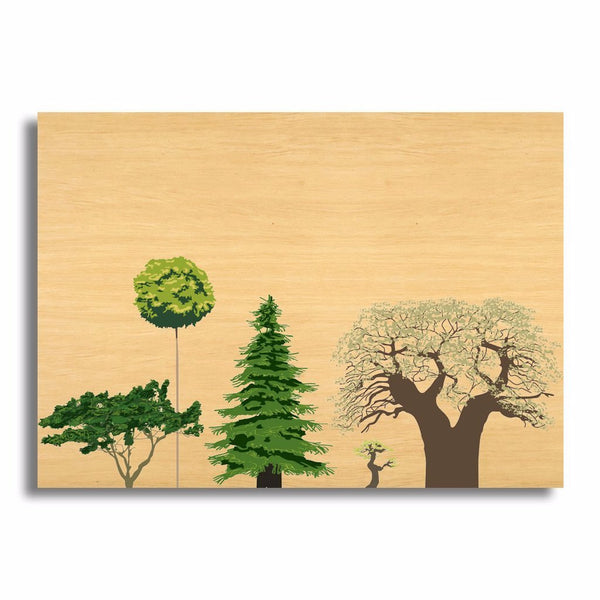 "5x7"" Custom Wood Photo Block (Thin-Mix) Landscape"