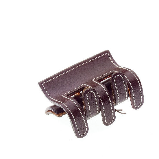 Sewn Leather Hair Claw 37575-1074