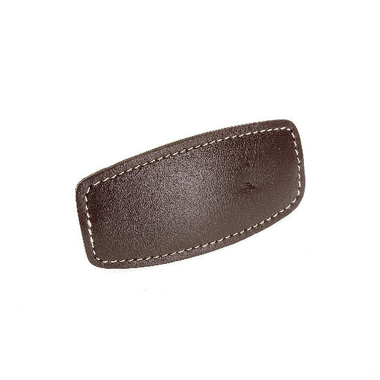 Sewn Genuine Leather Automatic Barrette   12121-1076