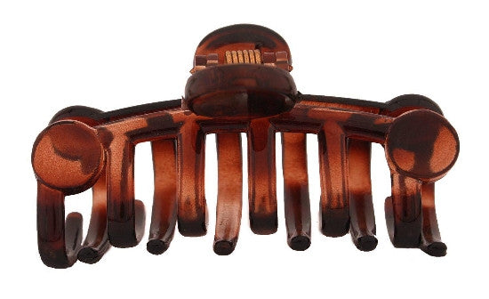 French Hair Claw  With Disks Tortoise Shell 1147