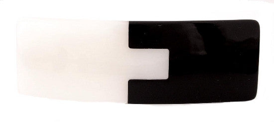 Puzzle Black & White Automatic Barrette 1167