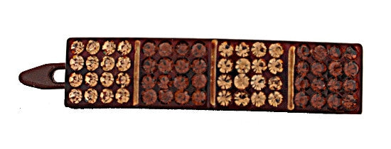 Rubber Handmade Barrette with 64 Gold Stones 1247