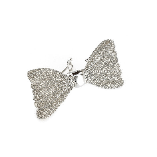 Gold Or Silver Mesh Bow Barrette 37575-1295