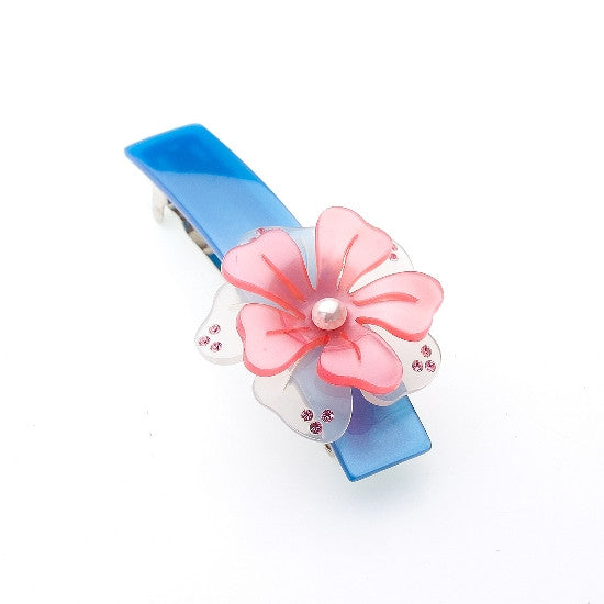 Transparent Rose Barrette 1484-1425