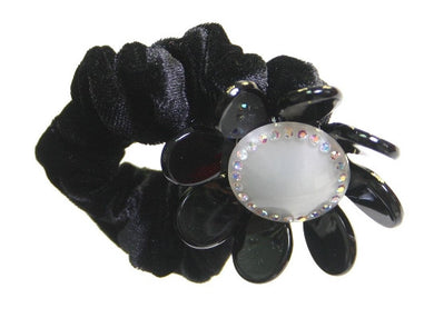 Velvet Rose Stone White On Black 1607