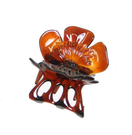 Rose Cover Hair Claw  Tortoise Shell 1745