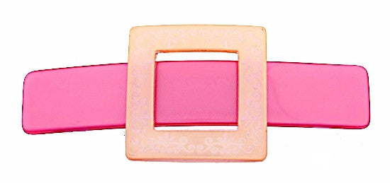 Engraved Buckle Automatic Barrette 1484-2058