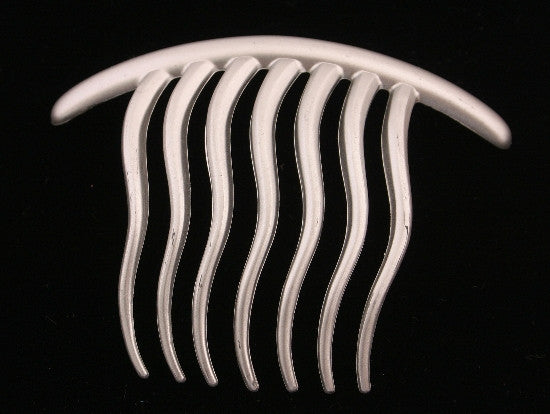 Wavy French Twist Hair Comb in Silver 2088