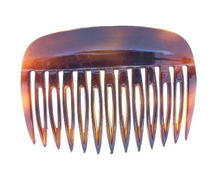 Wide Rim French Tortoise Shell Side Hair Comb 309