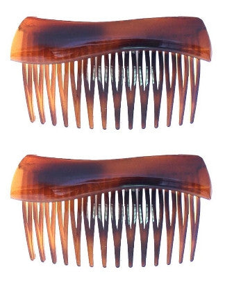 Wave Top Tortoise Shell Side Hair Comb (pair) 321-2