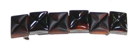 French Cubes Barrette Tortoise Shell & Matt Shell 3270