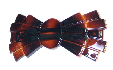 Multi Tier Detail Bow Tortoise Shell  Barrette   12121-331