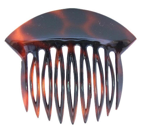 Tortoise Shell French Twist Hair Comb w/ Wide Rim 3871