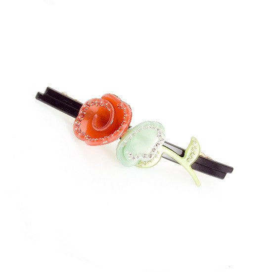 Color Roses Tight Barrette 4531