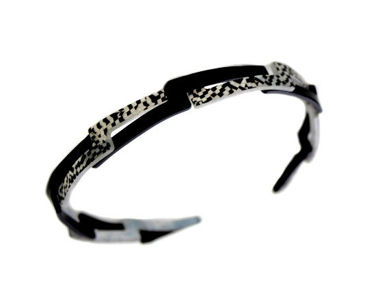 Black & Silver Opera Narrow Headband 4755