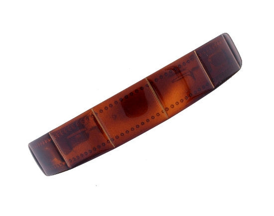 French Boxed Tortoise Shell Headband w/ Gold Stripes 530