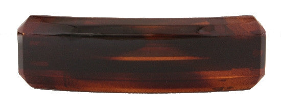 French Tortoise Shell Beveled Barrette 563