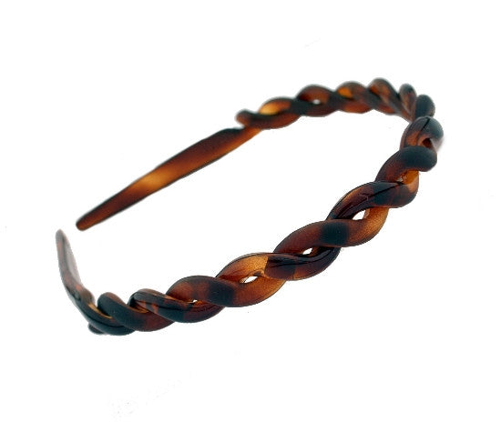French Twist Headband in Tortoise Shell & Matte Shell 564