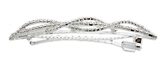 Extra Large Swarovski Barrette designed with Rolling Stones 5957