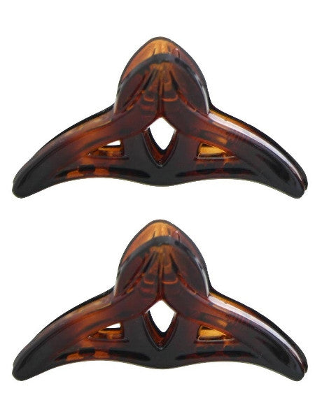 Mini French Fashion Hair Claws in Tortoise Shell (Pair) 611-2