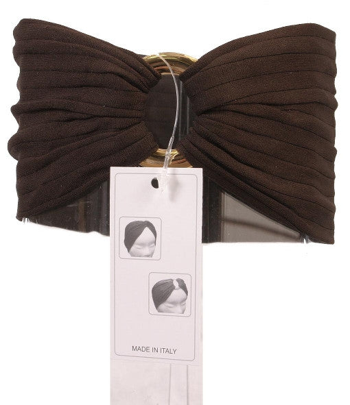 Gold & Brown Blend Stretch Buckle Headband 6157