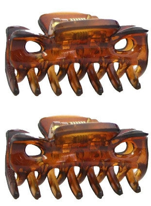 Mini Tortoise Shell Hair Claws (Pair) 617-2