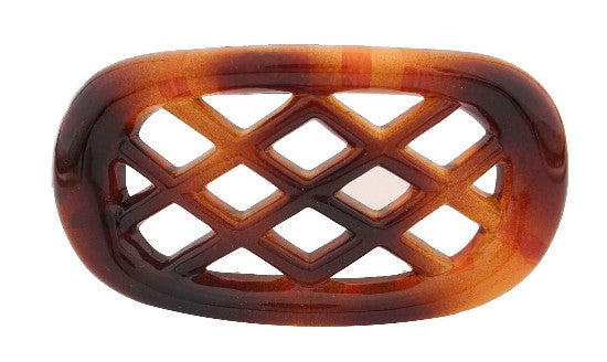Large Gate Non Metal Tortoise Shell Barrette 627