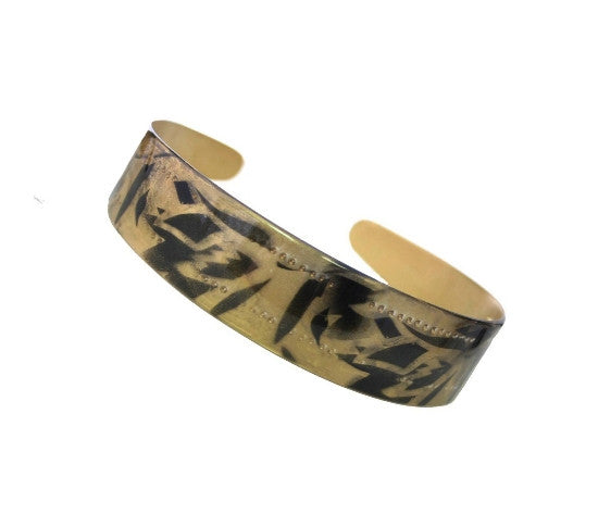 "1"" Black Gold Print Headband 12121-6503"
