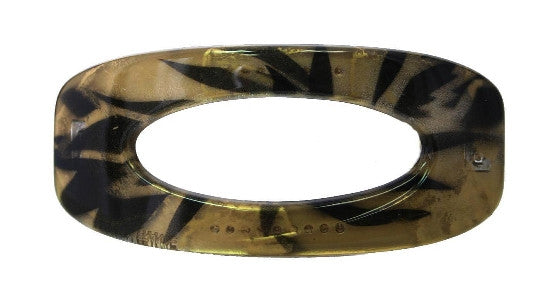 Open Twirl Black Gold Print Automatic Barrette   12121-6526