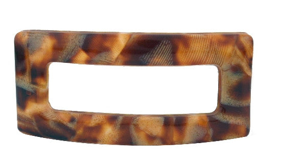 French Marble Rectangle Open Barrette 698