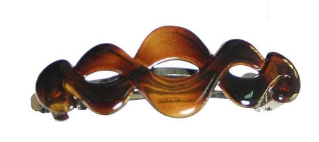 Open Twist  Barrette Tortoise Shell 7067