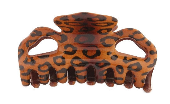 Hair Claw With Leopard Decoration 774