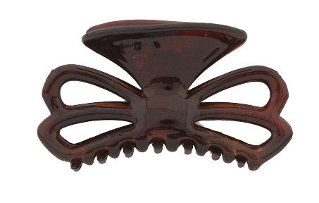 Bow Tortoise Shell Hair Claw 8002