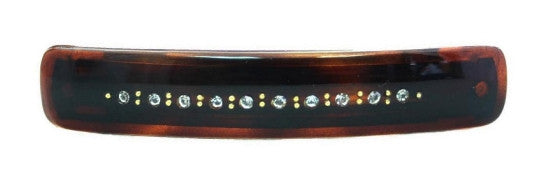 Tortoise Shell Barrette With 12 Stones 807