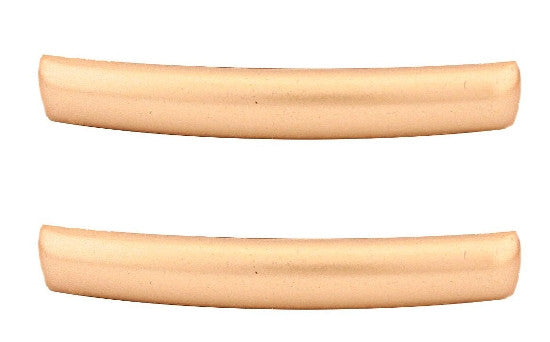 Small Matt Gold Automatic Barrette Pair   12121-8563-2