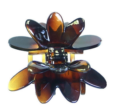 Flying Rose Hair Claw  Tortoise Shell Patent 8760