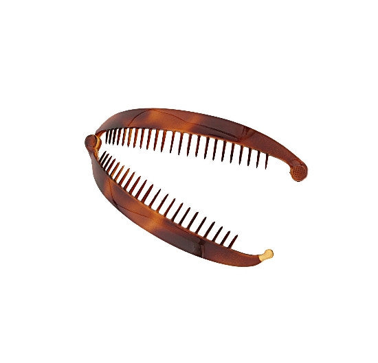 French Tortoise Shell Banana Clip with Ball Swivel-360   12121-879