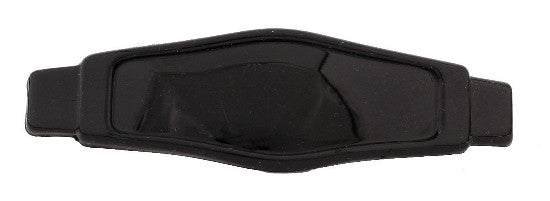 Pointed On Rectangular Barrette Black 91492