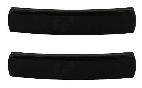 Small French Black Barrette Pair 9400-2