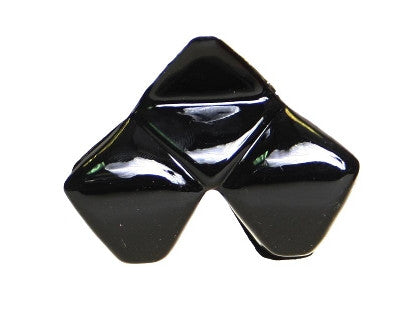 Tri Square Pyramid Black  Hair Claw. 9401