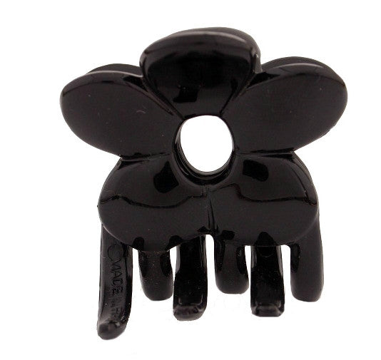 Small Flower Clamp Black Hair Claw   12121-9483