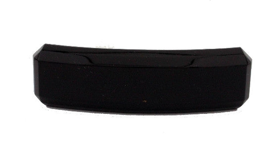 French Black Beveled Barrette 9563