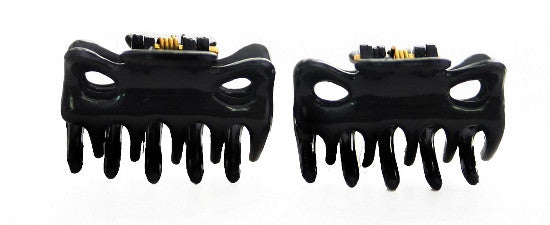 Extra Tiny French Hair Claws in Black (Pair) 9612-2