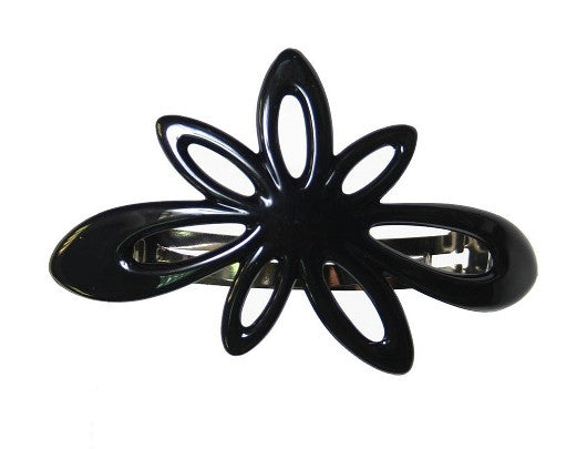 Daisy Black Barrette 9639