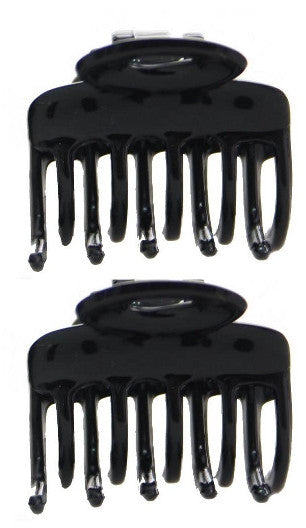 Patent Black Hair Claws - Oval Shaped (Pair) 9677-2