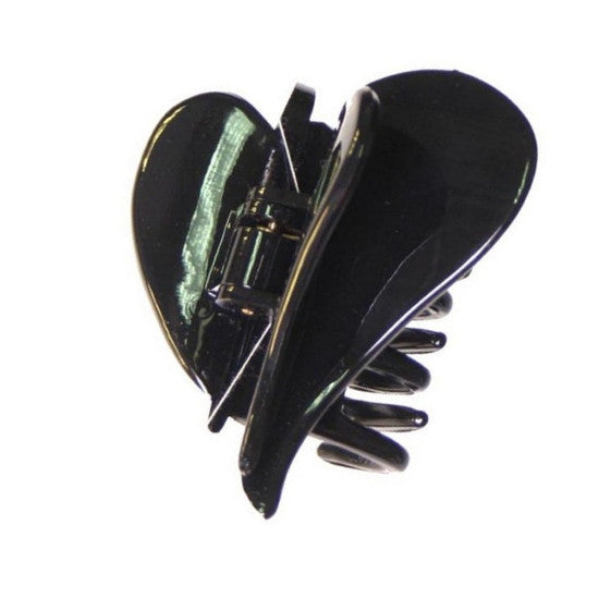 Flying Heart Hair Claw  Black Patent 98740