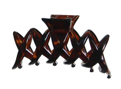 (5) Five 'X' Tortoise Shell Hair Claw 988